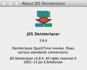 【JES Deinterlacer】を使って1080iの動画を480iに変換する。 Image.0