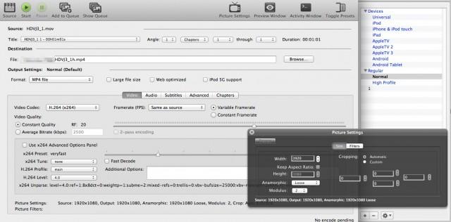 iPad・iPhone用に動画(ムービー)をエンコードする7