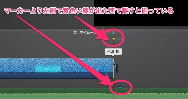 iMovie(ver.10)を使う1【動画素材123FULL】ムービーと音楽配置13
