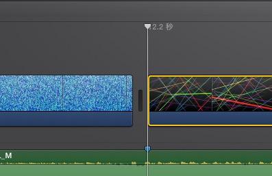 iMovie(ver.10)を使う1【動画素材123FULL】ムービーと音楽配置14