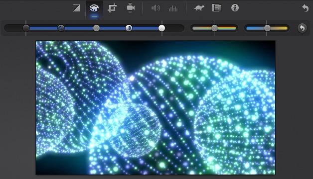 iMovie(ver.10)を使う4【動画素材123FULL】色の調整・回転・トリミング・ビデオエフェクト4