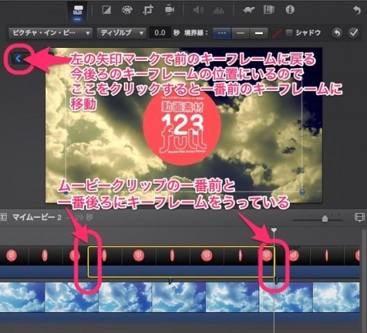iMovie(ver.10)を使う5【動画素材123FULL】アルファチャンネル付き(透過)movで合成・サイドバイサイド・アニメーション・KenBurns7