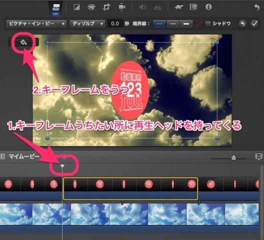 iMovie(ver.10)を使う5【動画素材123FULL】アルファチャンネル付き(透過)movで合成・サイドバイサイド・アニメーション・KenBurns5