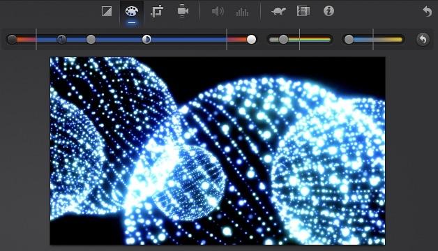 iMovie(ver.10)を使う4【動画素材123FULL】色の調整・回転・トリミング・ビデオエフェクト12
