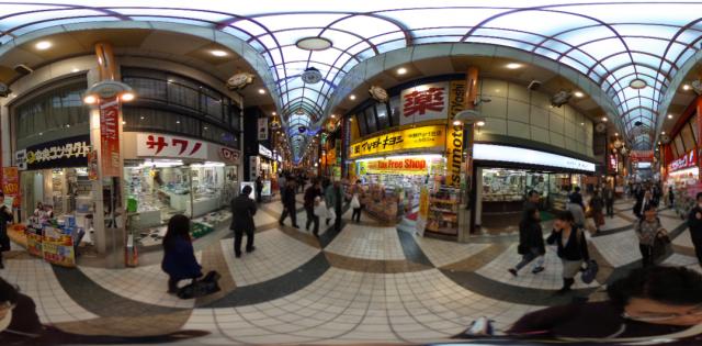 【THETA S】360°写真撮影・スライドショーにして360°の4K動画をYouTubeにアップロード2