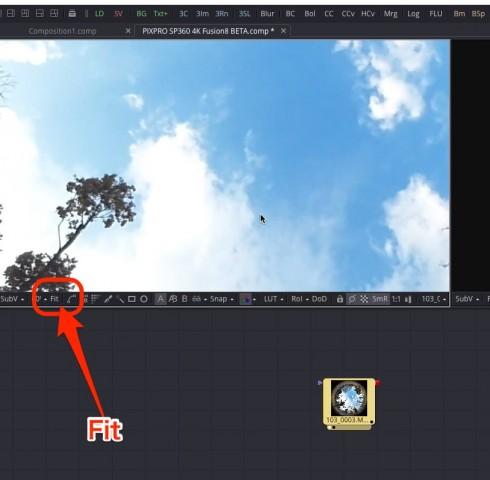 【Kodak PIXPRO SP360 4K】で撮ったVR映像を【Fusion8 BETA】で展開する【Blackmagic Design】12
