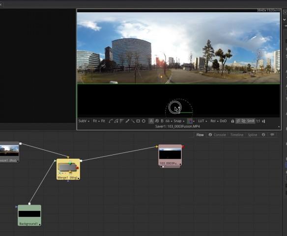 【Kodak PIXPRO SP360 4K】で撮ったVR映像を【Fusion8 BETA】で展開する【Blackmagic Design】42