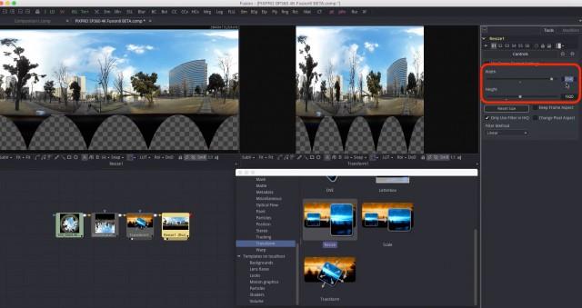 【Kodak PIXPRO SP360 4K】で撮ったVR映像を【Fusion8 BETA】で展開する【Blackmagic Design】28