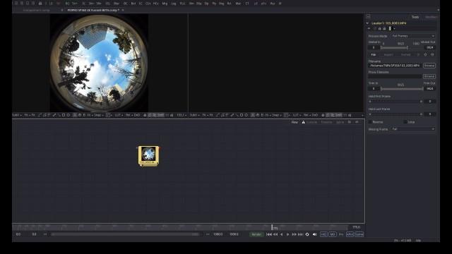 【Kodak PIXPRO SP360 4K】で撮ったVR映像を【Fusion8 BETA】で展開する【Blackmagic Design】11
