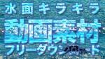 無料動画素材77 水面キラキラ