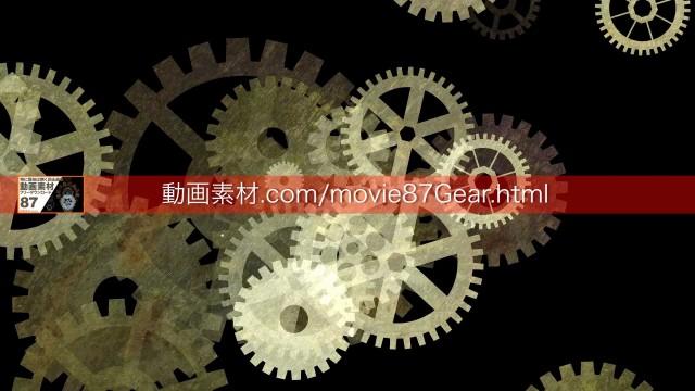 87-10歯車動画素材