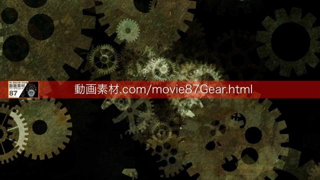 87-2歯車動画素材