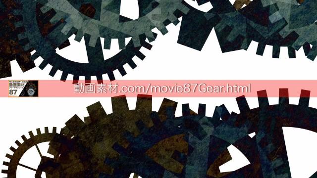 87-5歯車動画素材