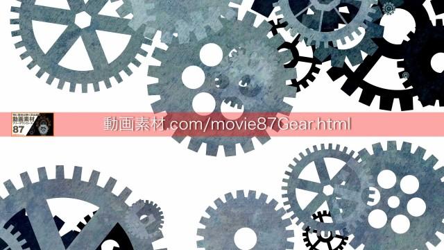 87-6歯車動画素材