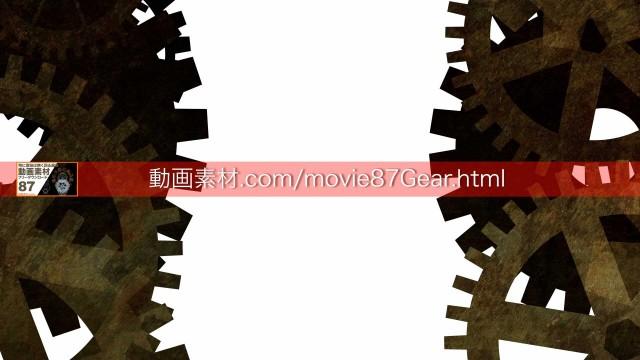 87-7歯車動画素材