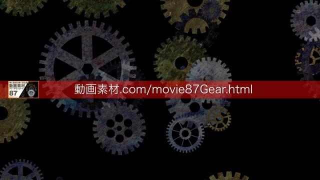 87-8歯車動画素材